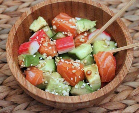 Sushi bowl met quinoa